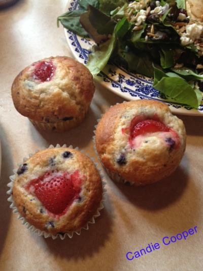 Candie cooper strawberry muffins